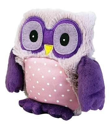 Hooty Purple OWL - WARMIES Heatable Lavender Scented Stuffed Animal (Owl Heating Pad)