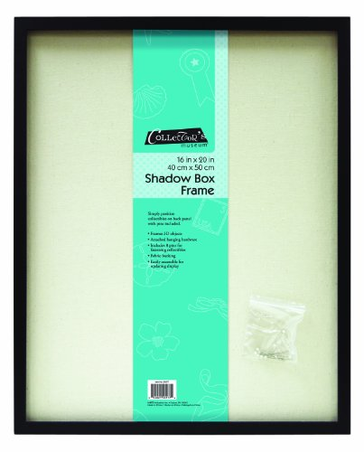 MCS 16x20 Inch Linen Lined Shadow Box, Black (53977)