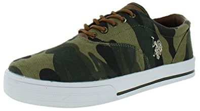U.S. Polo Assn Men's Skip in Camo Boat Shoes Sneakers Olive Green Size 8.5