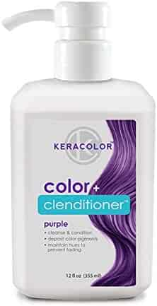 Keracolor Clenditioner Color Depositing Conditioner Colorwash, Purple, 12 fl. Oz.