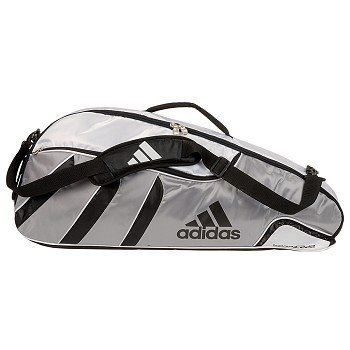 99563c7a8cb5 Adidas Barricade Tour 3 Pack Tennis Bag Color  White Silver 102201   Amazon.co.uk  Sports   Outdoors