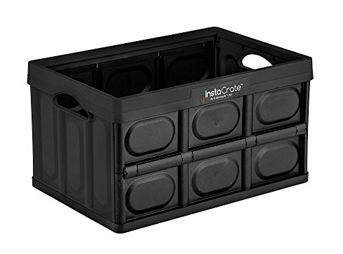 InstaCrate Collapsible 12Gallon Storage Bin Solution Contain