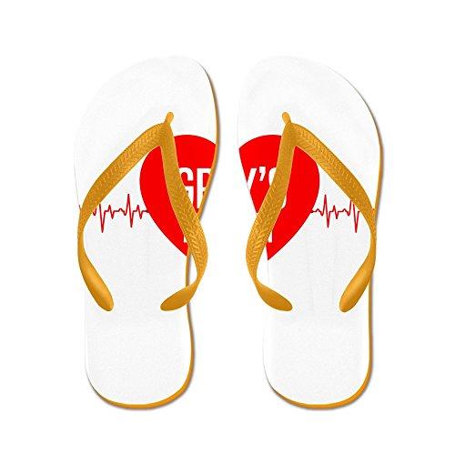 Cafepress Greys Anatomy - Flip Flops, Grappige String Sandalen, Strand Sandalen Oranje