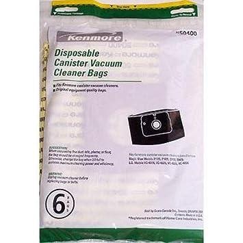 kenmore vacuum bags 50403. kenmore \u0026 lg canister vacuum cleaner disposable bags 50400, 6-count 50403
