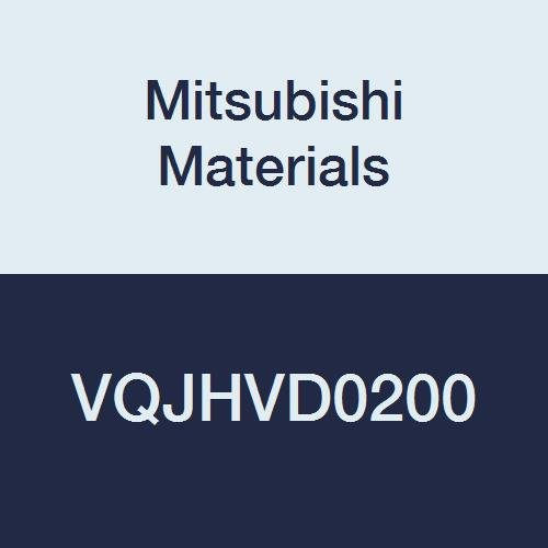 Mitsubishi Materials VQJHVD0200 VQJHV Series Carbide Smart Miracle Square Nose End Mill, Semi Long Flute, High Helix 45, Irregular Helix Flutes, 4 Flutes, 2 mm Cutting Dia., 8 mm LOC
