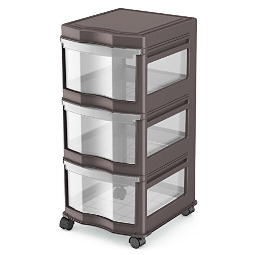 - Life Story Classic 3 Shelf Standing Plastic Storage Organizer and Drawers, Gray
