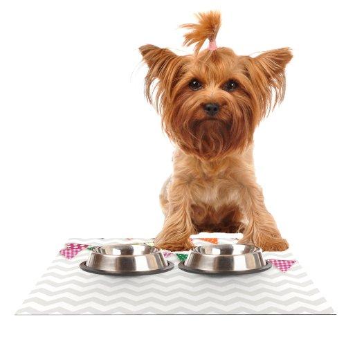 KESS InHouse Kess Original Flags 1  Feeding Mat for Pet Bowl, 18 by 13-Inch