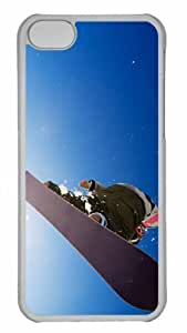 Customized iphone 5C PC Transparent Case - Winter Sports Personalized Cover by lolosakes