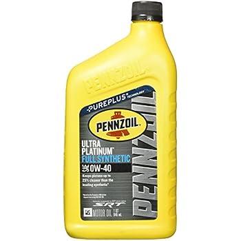 Pennzoil 550040856 ultra platinum 0w 40 full for Pennzoil platinum 5w20 full synthetic motor oil