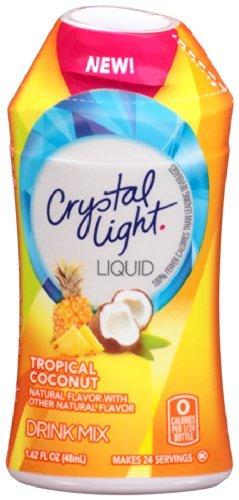 Crystal Light Liquid Energy Drink, Tropical Coconut, 1.62 fl oz (Pack of 20)
