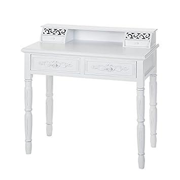 Sekretär Schreibtisch Chabby Chic Rosali antik weiß Landhaus .28 ...