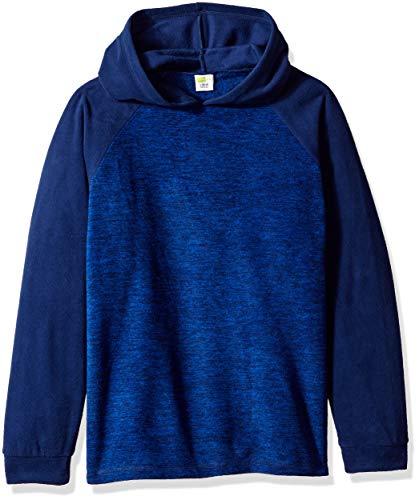 Crazy 8 Boys' Big Fleece Hooded Top, Navy Blue, XL