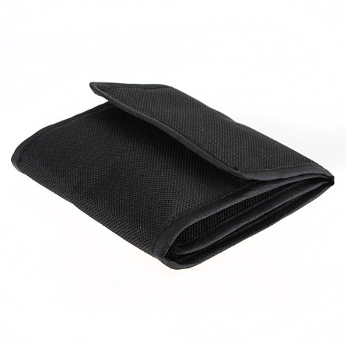 3 Pockets Wallet Case Pouch Holder For 25mm to 82mm UV CPL ND FD Lens Filter