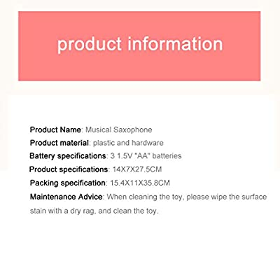 PeleusTech Toy Saxophone Mini Saxophone Musical Instrument Early Education Toy for Toddler: Toys & Games