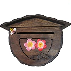 Wooden Handmade Wall Mount Decorative Post Box Mail Box Outdoor Letter box