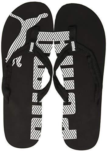 PUMA Epic Flip v2 Unisex Adult Flip Flop, Black (Black/White), 13 UK (48.5 EU) (Mens Slip On Shoes Puma)