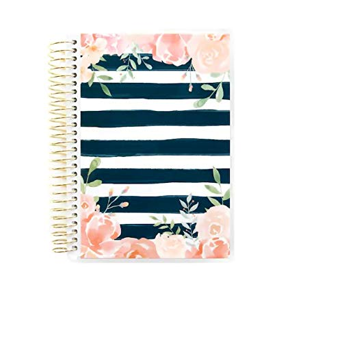 Creative Year Bella Floral Mini Spiral Planner by Recollections ; Dated 2019 ; Horizontal Weekly Layout 12 Month Planner