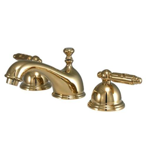 Georgian Georgian Bathroom Faucet - Kingston Brass KS3962GL Georgian Widespread Lavatory Faucet, Polished Brass