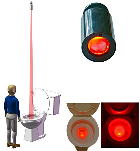 Hacy Toilet Training Light for Boys. Mounted to The Ceiling to Stay Away from Toilet Splashes. It Doubles as a Night Light for Free. Motion-Activated. Long Battery Life.