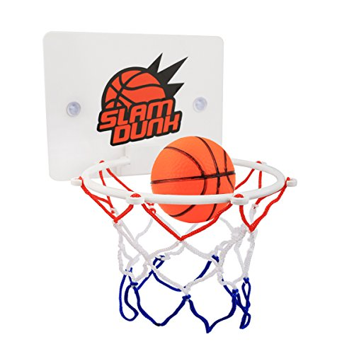 CGRTEUNIE Congerate Slam Dunk Bedroom Bathroom Toilet Office Desktop Mini Basketball Decompress Game Gadget Toy Home Decor for Kid Education Pet Play and Basketball Lovers CPC - Abstract Hoop