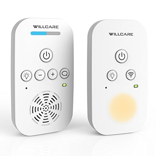 Willcare Baby Monitor with Two-Way Audio, Smooth Night Light, Rechargeable Battery Operated Parent Unit & Long Range, DBM-6. Image