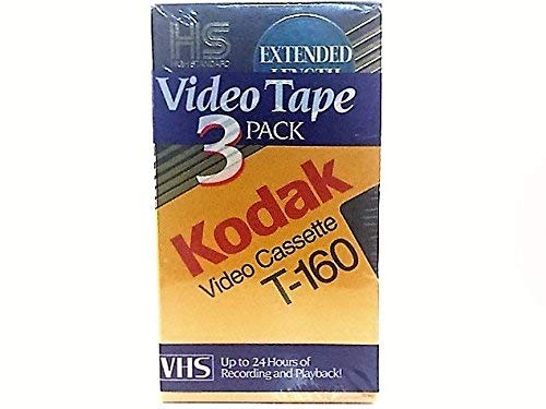 Kodak Video Cassette T-160 Pack of 3