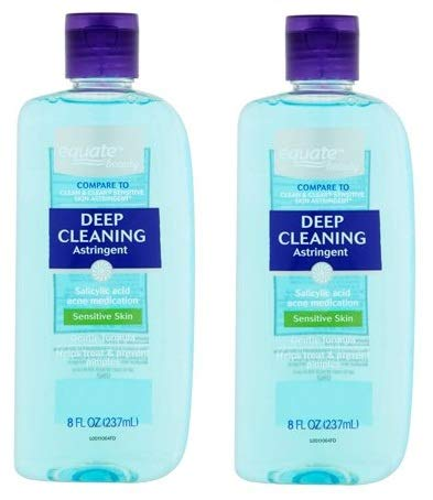 Equate Beauty Deep Cleaning Astringent for Sensitive Skin, 8 Oz (Pack of 2)