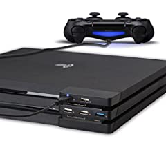 USB Hub for PS4 Pro - ElecGear Central de Expansión de 5-Puertos ...
