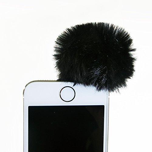 EDUTIGE ウインドスクリーン スモール/スマホ スマートフォン・iphone用小型4極・GoPro 小型3極イヤホンプラグマイク対応の風防/バイク・自転車 ピンマイクとして/AEWS-003-G