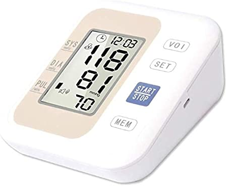 U&TE Manual del Monitor de la presión Arterial, máquina de presión Arterial médico con el Aviso de la Voz, Medición Automática, Voiceprompt, for Uso en el hogar (Color : B, Size : Novoiceprompt)