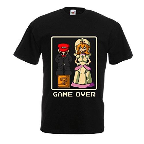 Vegas Invite - lepni.me N4421 T Shirts For Men Game Over! (Small Black Multi Color)