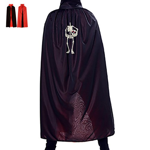 Headless Skeleton Reversible Halloween Cloak Masquerade Party Cape Cosplay Costume - Headless Person Halloween Costume
