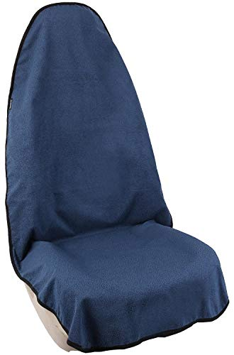 Leader Accessories Seats Waterproof Towel Seat Cover for Car Truck Front Seat Deep Blue - Non-Slip Back and Machine Washable - After The Gym, Runs, Swimming, Biking, Yoga, Surfing & Beach Trips