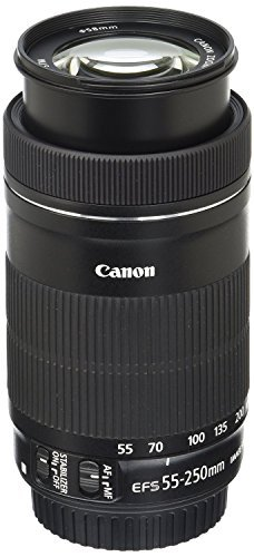 - Canon EF-S 55-250mm F4-5.6 is STM Lens for Canon SLR Cameras (Renewed)