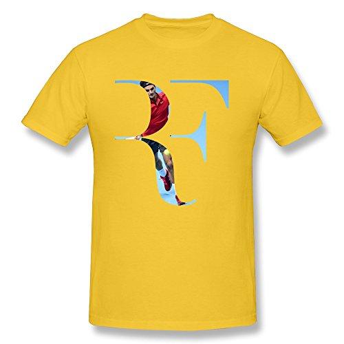 New Lifestyle Men's Roger Federer Logo Short Sleeve T Shirt