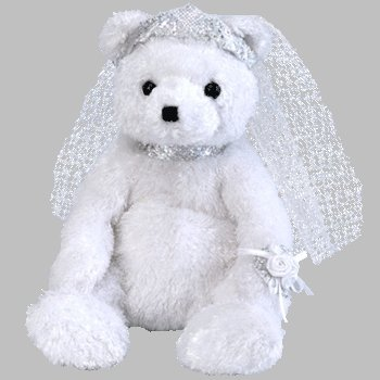 88798ef18fc Image Unavailable. Image not available for. Color  TY Beanie Babies Bride  The Bear Beanie