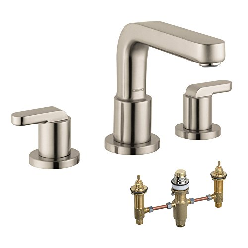 Hansgrohe KT31438-06607BN-2 Metris S 2-Handle Roman Tub Faucet with Lever Handles & Rough-In, Brushed Nickel