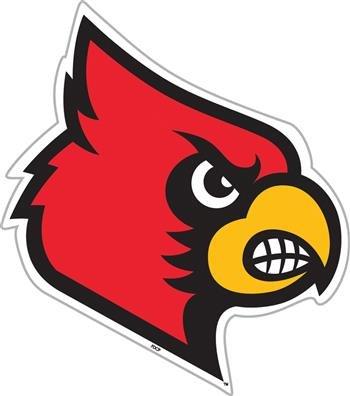(Fremont Die NCAA Louisville Cardinals 12 inch Vinyl Magnet)