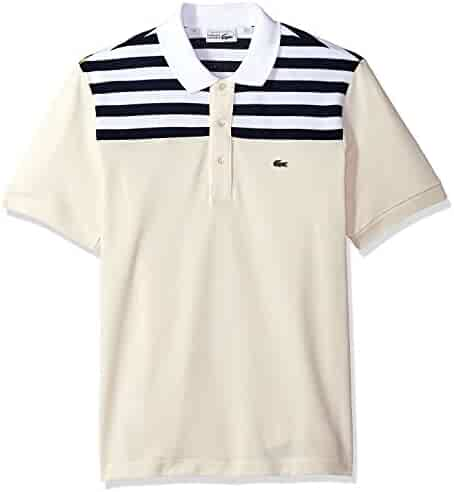 9a2d6ede Lacoste Men's Short Sleeve '85th Anni' 80's Stripe Original Polo, PH7327