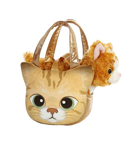 Aurora World Fancy Pals Pet Carrier Orange Tabby Kitten -