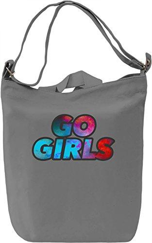 Go Girls Borsa Giornaliera Canvas Canvas Day Bag| 100% Premium Cotton Canvas| DTG Printing|