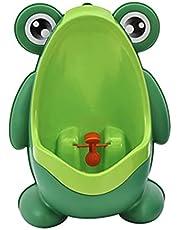Healifty Froggy Potty Training Urinal with Fun Aiming Target Boy Urinal Kids Toddler Pee Trainer Bathroom Training Potties (Green)