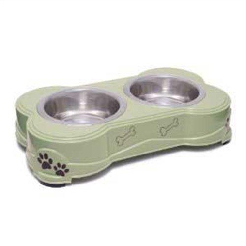 Loving Pets Dolce Diner Dog Bowl, Medium, 1 Quart, Pesto, My Pet Supplies