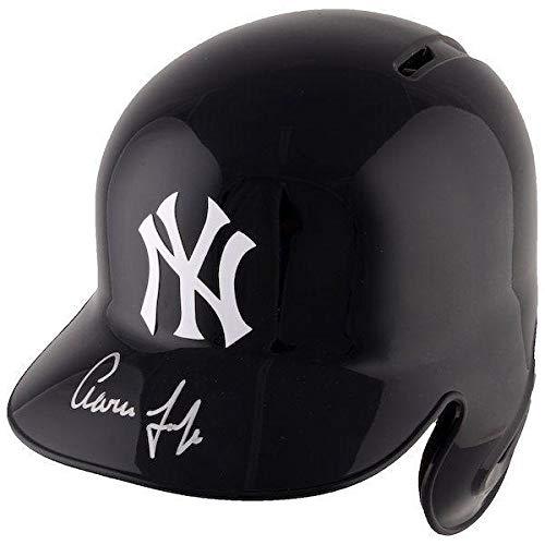 AARON JUDGE Autographed New York Yankees Batting Helmet FANATICS - Fanatics Authentic Certified - Autographed MLB Helmets
