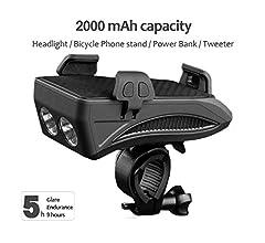 Juego de luces delanteras para bicicleta recargable con 4 ...