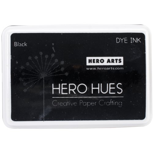 Hero Arts Rubber Stamps Dye Ink, Black