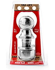 """Eaz-Lift 48226 2"""" Hitch Ball with 1 1/4"""" Shank -Chrome Plated Heavy Duty Steel 8,000 lb Rating"""