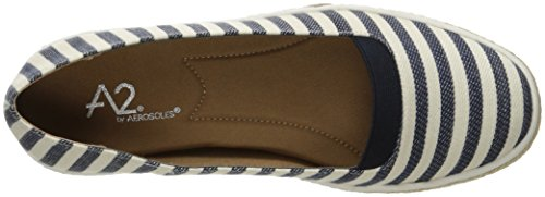 Aerosoles A2 Womens Funny Bone Slip-On Loafer Navy Stripe sR6qu7C