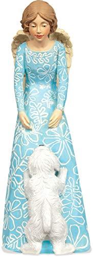 Collectible Dog Figurine (AngelStar 8041 Puppy Love Angel Figurine, 7