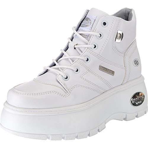 43dr202 Weiss a by Gerli Collo Bianco Donna Sneaker 500 Alto Dockers wfECxqC